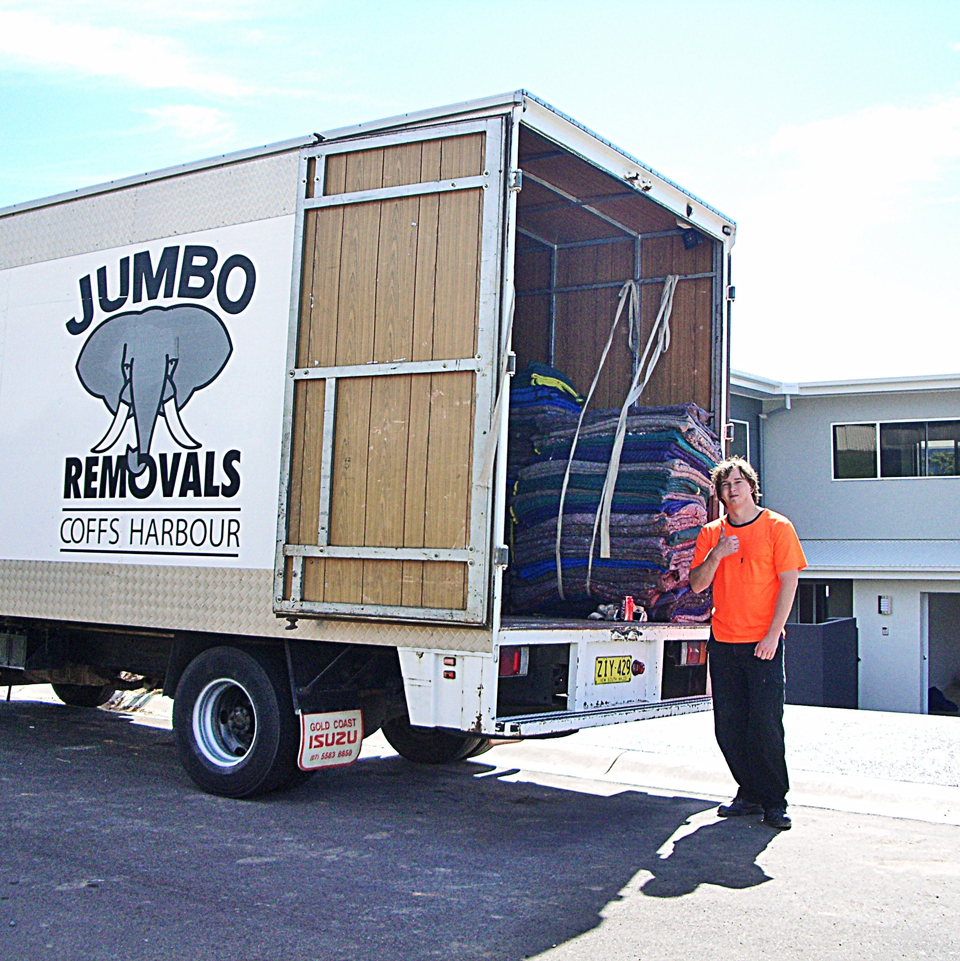 John with Jumbo removals coffs harbour truck